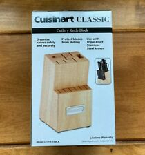 New listing Cuisinart Classic Wood Cutlery Knife Block * Block Only