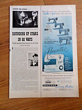 1956 Brother Sewing Machines Ad Pacesetter & 4 other Models