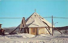 POSTCARD IMMACULATE HEART OF MARY CHURCH TESLIN YUKON ALASKA NISUTLIN BAY AK A74