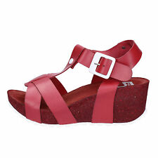 scarpe donna 5 PRO JECT 39 EU sandali rosso pelle AC605-E