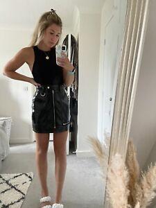 Boohoo PU Leather Skirt Size 8