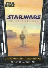 Star Wars 40th Anniversary Base Card #95 Star Wars Saga is Released on Blu-Ray