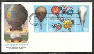 US SC # 2035a Balloons FDC . Albuquerque cancel . Fleetwood Cachet