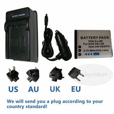 DB-L80 DBL80 Battery +Charger for SANYO Xacti DMX-CG11 VPC-CG10 VPC-CG102