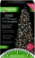 Premier 1000 LED TreeBrights Christmas Tree Lights with Timer - WHITE/WARM WHITE