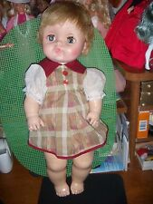 "EEGEE'S  MARKS ON NECK ATLTN 18"" DOLL IN CUTE DRESS & PANTIES"