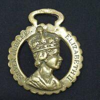 Vintage solid  Horse Brass  - Elizabeth ii silver jubilee