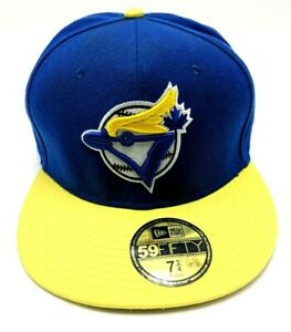 TORONTO BLUE JAYS fitted hat blue / yellow cap  size 7 3/4; 61.5 cm XL  59Fifty
