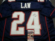 Ty Law New England Patriots Autographed INSCRIBED Custom Jersey W-Coa JSA