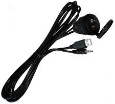 Prise rallonge à encastrer 2m USB + Jack 3.5mm 4pin pour auto voiture utilitaire