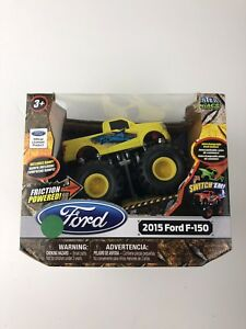 Ford F-150 Toy Truck Friction Powered Monster Maniacs with Ramp 2015 Yellow NEW