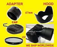 ADAPTER+UV FILTER+LENS CAP+FLOWER HOOD 67mm to CAMERA NIKON COOLPIX L330 L 330