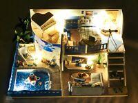 DIY Handcraft Miniature Project Dolls House My Little Holiday Villa in Greece