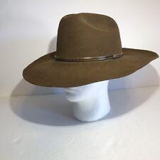 "Resistol Cowboy Western Hat XXX 3X Brown 100% Wool Sz 7 1/4 USA 4"" Brim NEW"