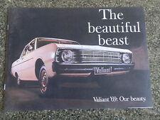 1969 VF CHRYSLER VALIANT BROCHURE, INCL PRICE LIST.   100% GUARANTEE.