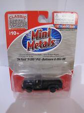 Classic Metal Works Mini Metals 54 Ford f-350 P/U Baltimore & Ohio RR 1:87