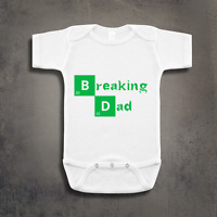 Breaking Dad Funny Breaking Bad Inspired Baby Grow Vest Bodysuit Clothing Gift