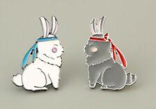The Untamed Chen Qing Ling MDZS Bunny Rabbit Enamel Pins Set of 2 US Seller