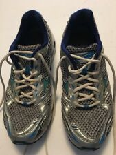 MIZUNO Women US 10 Gray Blue Wave Rider 13 Running Shoe Athletic Lace Up