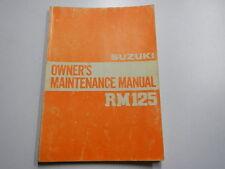 1982 SUZUKI RM125 OWNERS REPAIR SERVICE SHOP MANUAL 82 RM 125 99011-14120-03A