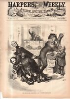 1875 Harper's Weekly Cover- Nast - John Young Brown of Kentucky causes trouble