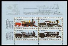 Canada Stamp #1039a - 1984 Canadian Locomotives Souvenir sheet (TRAIN) MNH