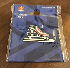 Salt Lake City 2002 USA Speed Skates Olympic Pin