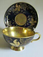 LUSCIOUS GOLD & COBALT BLUE Johann Haviland Teacup & Saucer