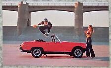 "MG MIDGET SPORTS CAR 5 ½""x 3 ¼"" Factory Issue Colour Postcard c1974 USA MARKET"