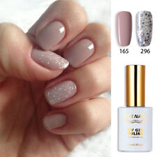 2pcs RS 165_296 Gel Nail Polish UV LED Varnish Soak Off Silver Glitter Nude Grey