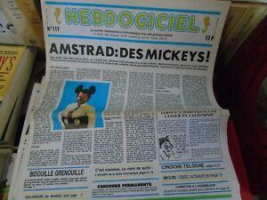 Hebdogiciel n°1117 jan 1986 Amstrad microïde océania la geste d'artillac tomahaw