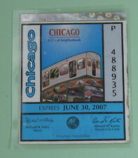 2007 Vintage Chicago Illinois Vehicle Tax License Decal Sticker...Free Shipping!