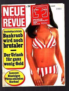 Neue Revue Nr. 34 16.8.1971 James Drury, Susanne Uhlen, Doris Day