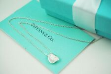 """AUTHENTIC Tiffany & Co. Sterling Small Full Heart Necklace 16"""" Retail $275 #F287"""