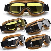Motorcycle Retro Goggles Helmet Glasses Flying ATV Eyewear for Harley Chopper