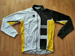 Sportful Men's LS Thermal Cycling Jersey/Jacket White/ Black/Yellow Size:2XL