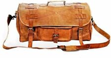 New Large Vintage Men Real Leather Tote Luggage Bag Travel Bag Duffle Gym Bag
