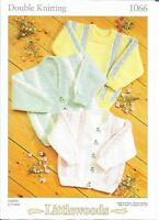 VINTAGE LITTLEWOODS KNITTING  PATTERN FOR BABY CARDIGANS AND SWEATER