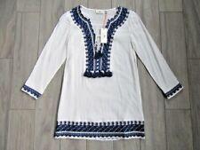 2b08345b72 Vineyard Vines Womens Solid Embellished Tassel Cover up White Cap 2xs
