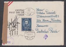 Österreich 1949 FDC Mi Nr: 947 50. Todestag von Karl Millöcker mit Zensurstempel