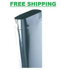 6 in. x 5 ft. Oval Duct Pipe Galvanized Steel Air Supply Register In Wall HVAC