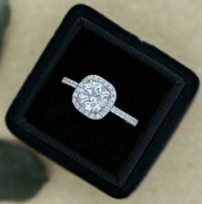 Certified Halo Ring Fancy Engagement Wedding Ring 2.55 Ct Diamond 14k White Gold