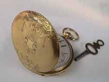 Geneva key wind and set. c1800 Antique 18k gold Chs Dubois Fils