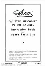 Petter A Stationary Engine Instruction Book For 1936-46 Models, Petter A Manual