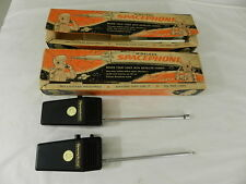VINTAGE 1961 ELSCO SPACEPHONES (2) VINTAGE ATOMIC AGE TOY- VINTAGE WALKIE TALKIE