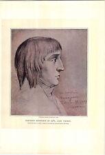 1897 Sixteen Year Old Napoleon Bonaparte In 1785 Portrait PRINT