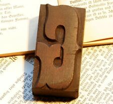 "Letter ""G"" fancy rare decorative wood type character letterpress printing block"