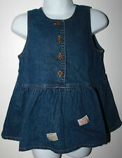 BEBE Japan Girls Denim Dress 90 cm 2T EUC Creer La Generation Qui Monte