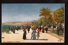 Tuck wide world people Promenade des Anglais Nice France postcard