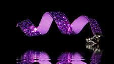 Glitzer-Halsband , Choker, lila  grober -Glitter . Kropfband